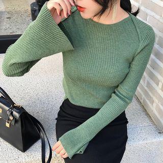 Long Bell Sleeve Knit Top