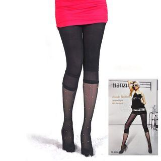 Panel Tights Black - One Size