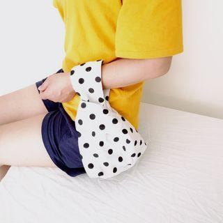Dotted Wristlet Black Dots - White - One Size
