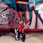 Striped Printed Leggings