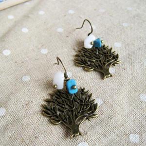 Sweet Little Copper Trees Earrings