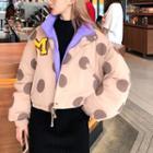 Polka Dot Zipped Jacket