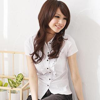Ruffle-accent Blouse