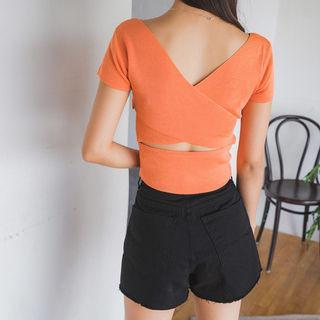Cutaway-back Knit Top