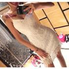 Strappy Sheath Lace Dress
