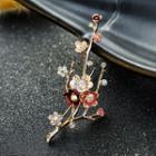 Plum Blossom Rhinestone Brooch