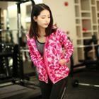 Patterned Sports Zip Jacket