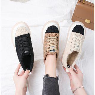 Fleece Platform Sneakers
