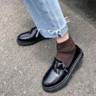 Buckled Patent Platform Loafers