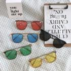 Double-bridge Colored Lens Sunglasses