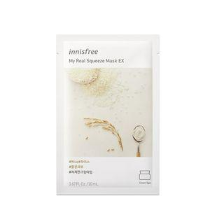 Innisfree - My Real Squeeze Mask Ex - 14 Types Rice