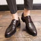 Faux Croc Grain Oxford Shoes