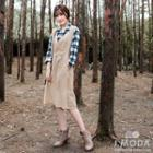 Set: Plaid Shirt + Sleeveless Dress