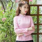 Long-sleeve Qipao Top