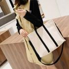 Two Way Canvas Tote Almond - One Size
