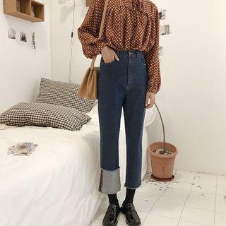 Tassel Cropped Jeans