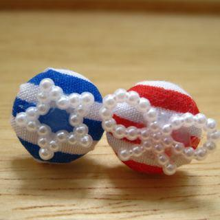 Lovely Sailing Button Earrings
