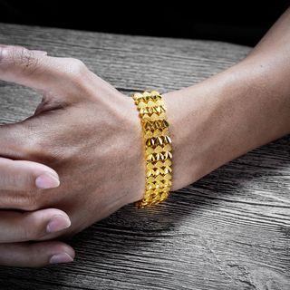 Gold Plated Heart Bracelet