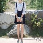 Plain Pleated Jumper Skirt