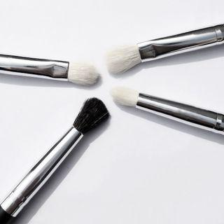 Set Of 4: Eye Makeup Brush Set Of 4 - As Shown In Figure - One Size