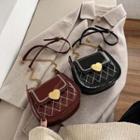 Heart Buckled Patent Crossbody Bag