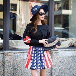 A-line Printed Skirt
