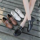 Studded Strap Loafers