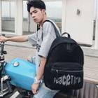 Lettering Nylon Backpack Black - One Size