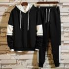Crew-neck Pullover / Drawstring Hoodie / Drawstring Sweatpants / Set