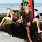 Couple Matching Camo Jacket / Bikini / Swim Shorts