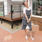 Sleeveless Tiered Chiffon Dress