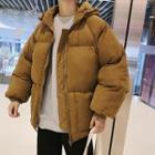 Dog Print Hood Padded Jacket
