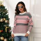 Long-sleeve Striped Knitted Top