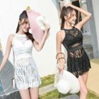 Set: Bikini + Lace Cover-up Dress