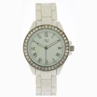 Aluminium-effect Bracelet Wrist Watch White - One Size