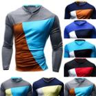 Colo Block Long-sleeve T-shirt