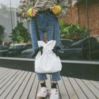 Canvas Drawstring Bucket Cross Bag