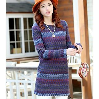 Pattern Knit Dress