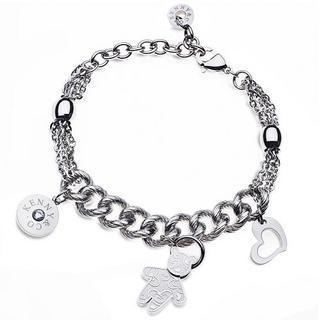 Kenny & Co. Logo Sweetheart Kenny Bear Bracelet Silver - One Size