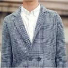 Plaid Single Button Coat