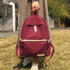 Contrast Color Trim Backpack