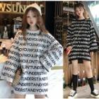 Boxy Lettering Long Sweater
