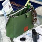 Snap Button Canvas Shoulder Bag
