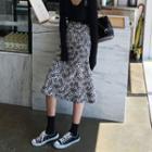 Leopard Flare Midi Skirt