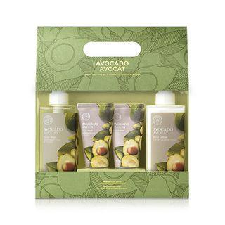 The Face Shop - Avocado Special Body Set: Body Wash 300ml + 50ml + Body Lotion 300ml + 50ml