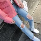 Cutaway Straight-cut Jeans