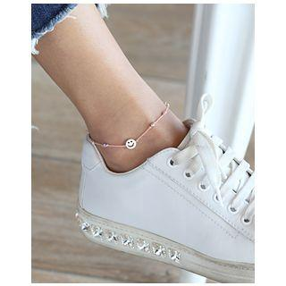 Silver Smile-charm Thread Anklet