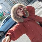 Furry Trim Hooded Button Padded Coat