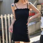 Strappy Sheath Knit Dress Black - One Size