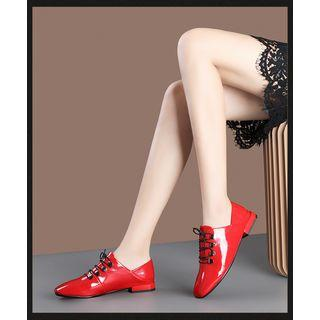 Patent Lace-up Oxford Shoes